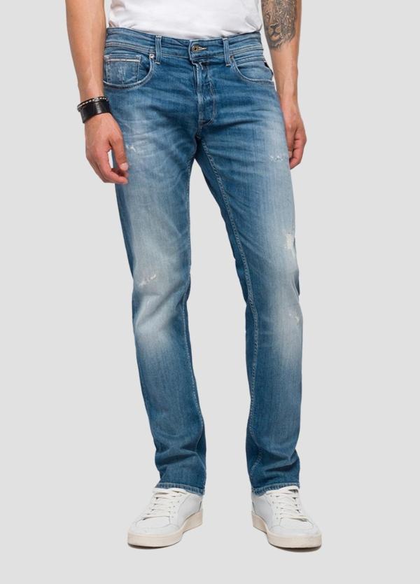 Pantalón tejano 10,5 oz REGULAR 972 GROVER color azul medio lavado. 98% Algodón 2% Elastano. - Ítem2