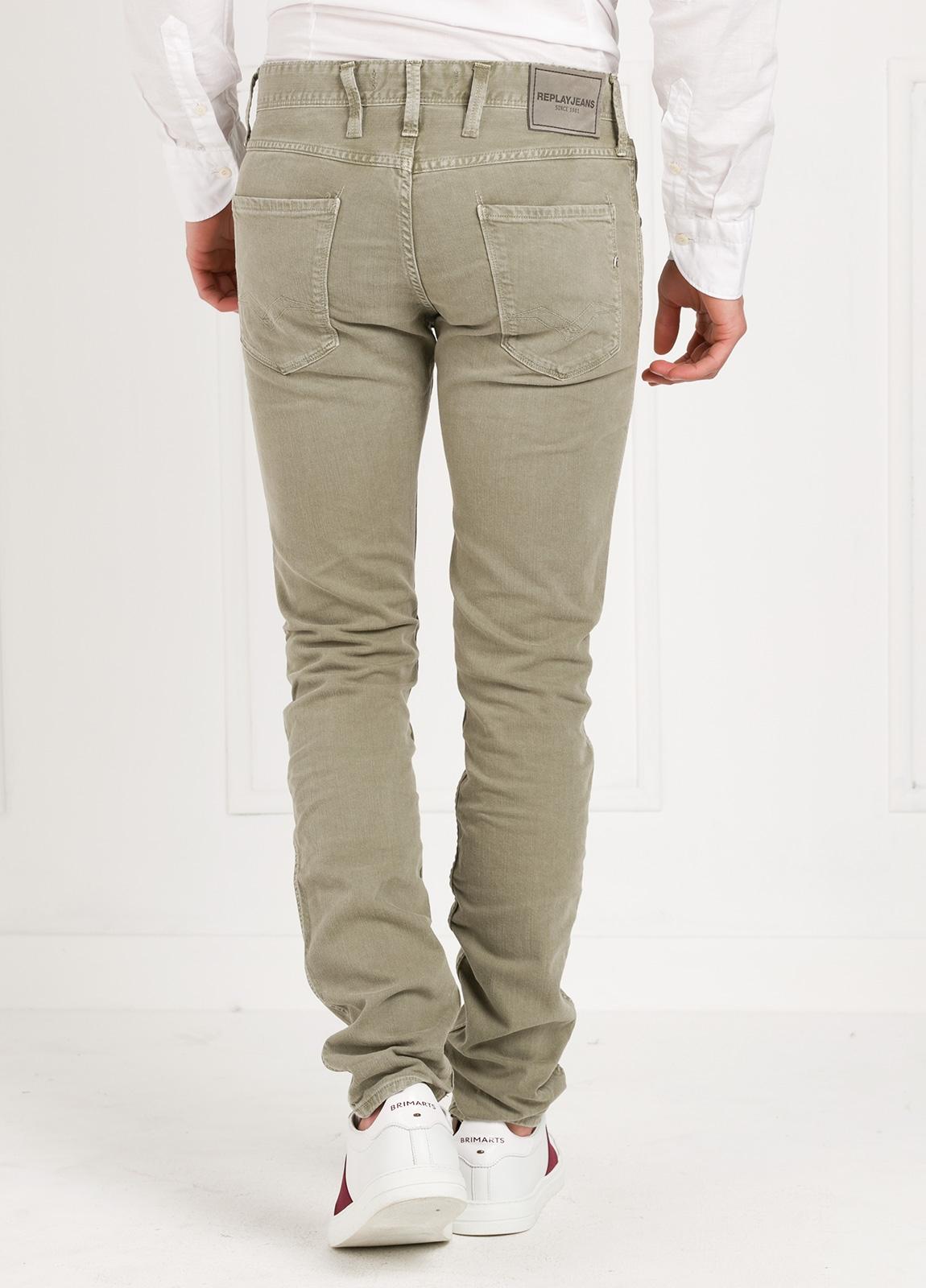 Pantalón tejano SLIM FIT M914D ANBASS color kaki lavado algodón - Ítem1