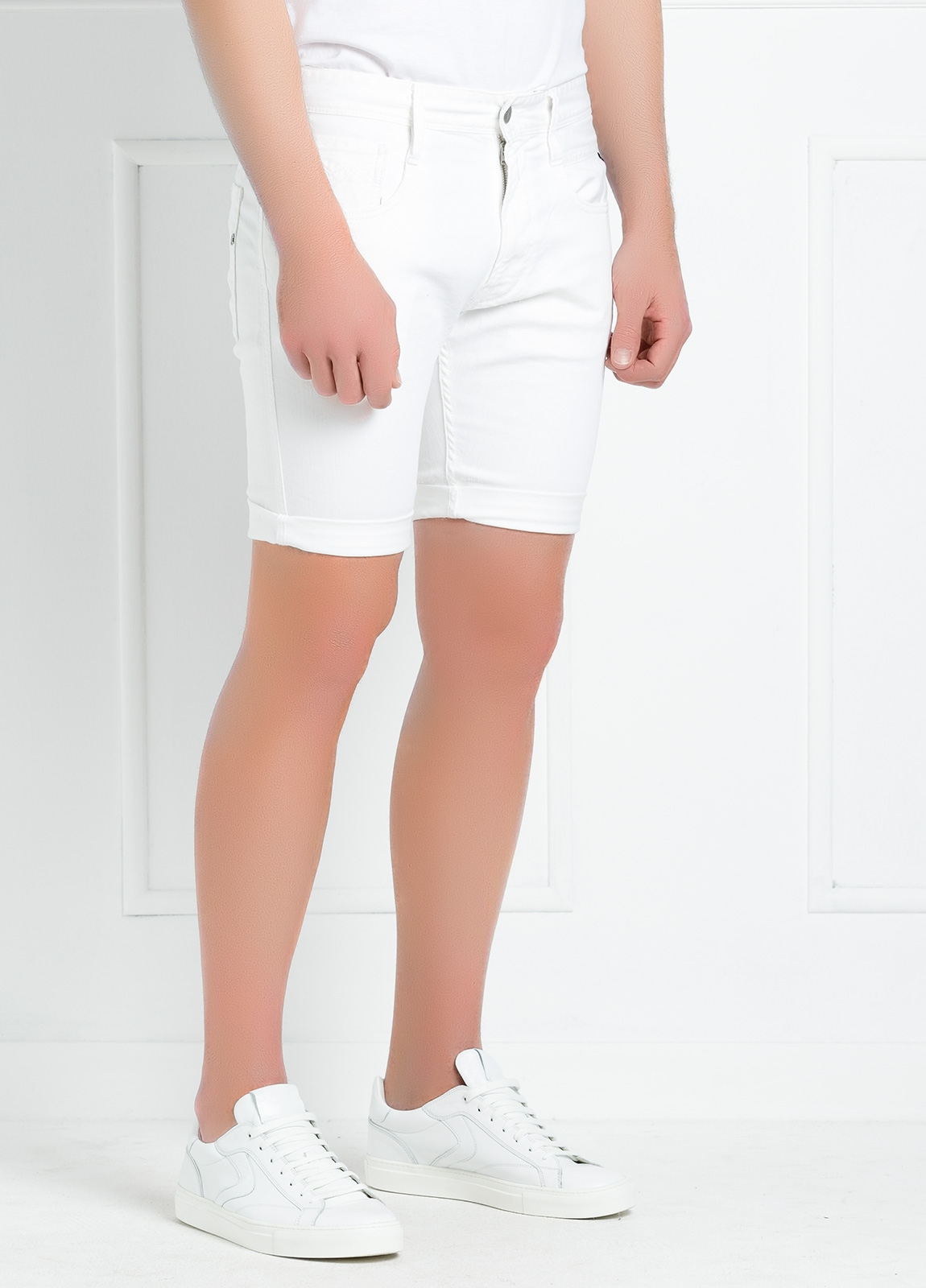 Bermuda tejana 9,5 oz SLIM MA 996 ANBASS color blanco. - Ítem2
