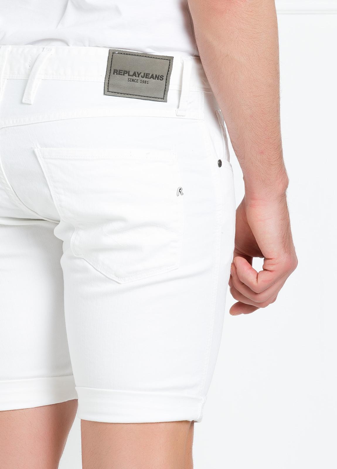 Bermuda tejana 9,5 oz SLIM MA 996 ANBASS color blanco. - Ítem3
