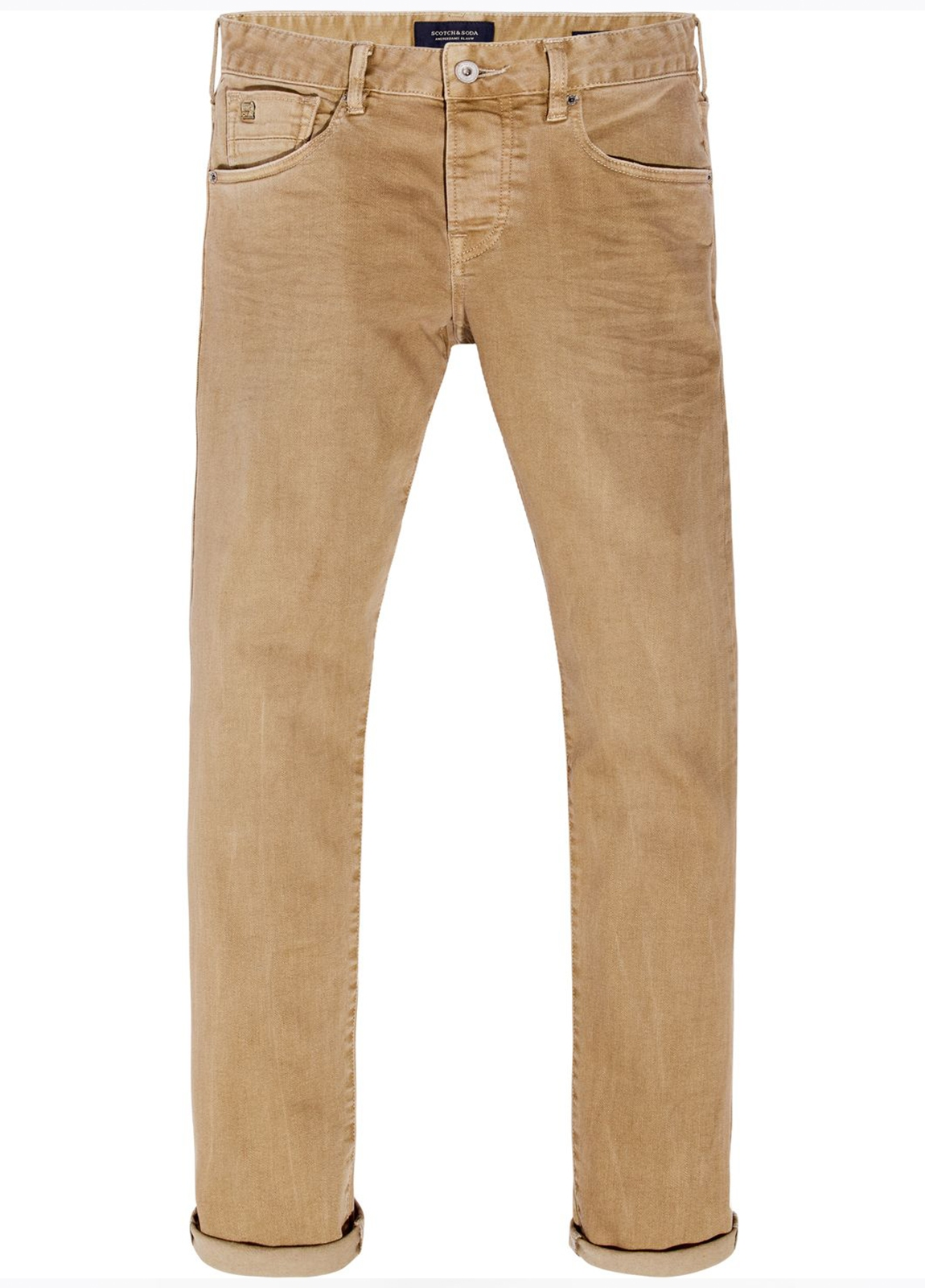 Pantalón 5 bolsillos regular slim fit modelo RALSTON denim elástico color beige. 78% Algodón 21% Poliéster 1% Elastano. - Ítem2