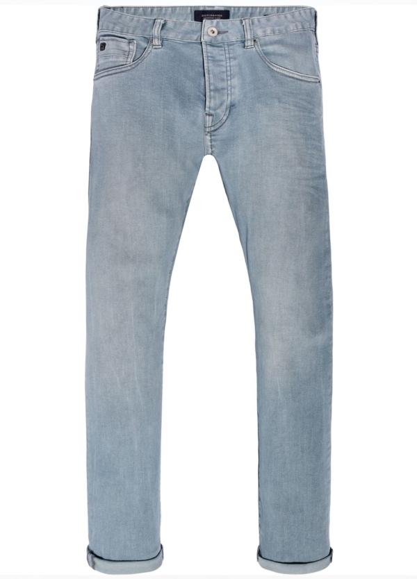 Pantalón 5 bolsillos regular slim fit modelo RALSTON denim elástico teñido en prenda color celeste. 78% Algodón 21% Poliéster 1% Elastano. - Ítem2