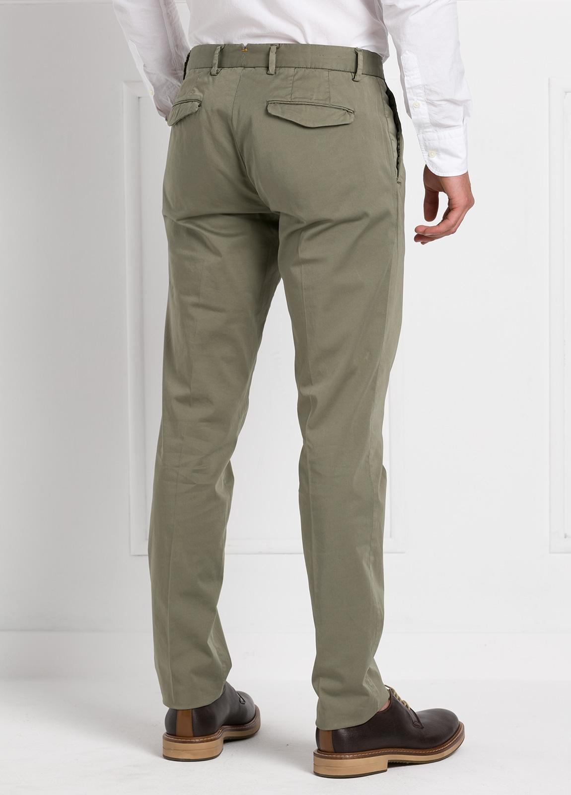 Pantalón modelo slim fit 1 pinza color kaki. 97% Algodón 3% Ea. - Ítem3