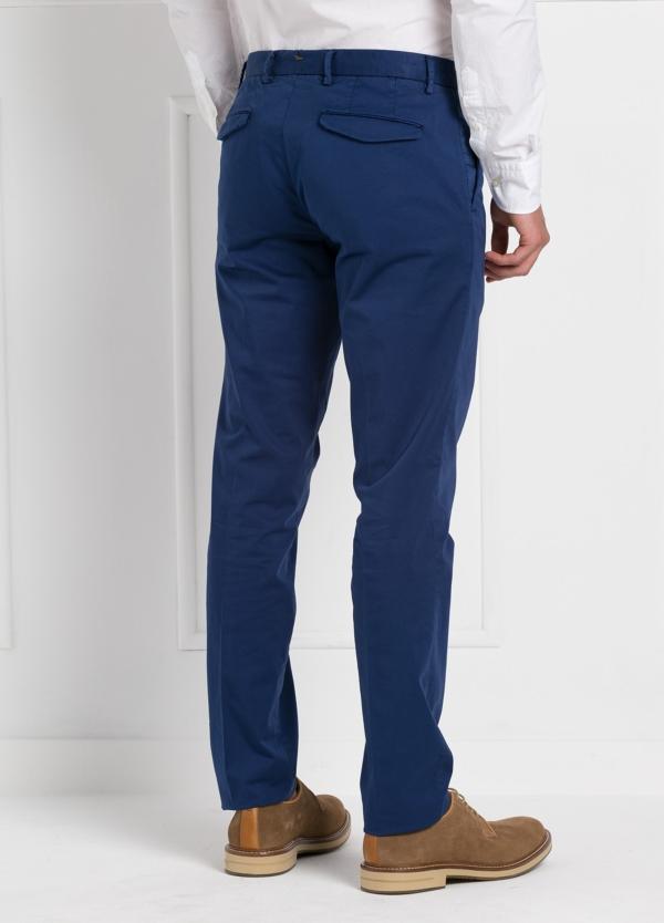 Pantalón modelo slim fit 1 pinza color azul. 97% Algodón 3% Ea. - Ítem3