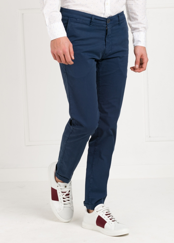 Pantalón sport modelo MUCHA P249 color azul. Algodón y elastáno. - Ítem1