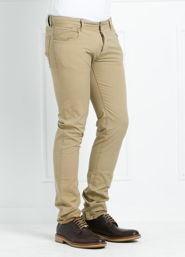 Pantalón sport regular fit modelo POLLOCK P 053 color beige. 96% Algodón gabardina 4% Lycra. - Ítem1