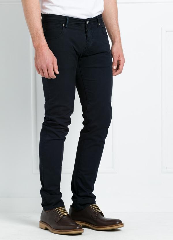 Pantalón sport regular fit modelo POLLOCK P 053 color azul marino. 96% Algodón gabardina 4% Lycra. - Ítem1