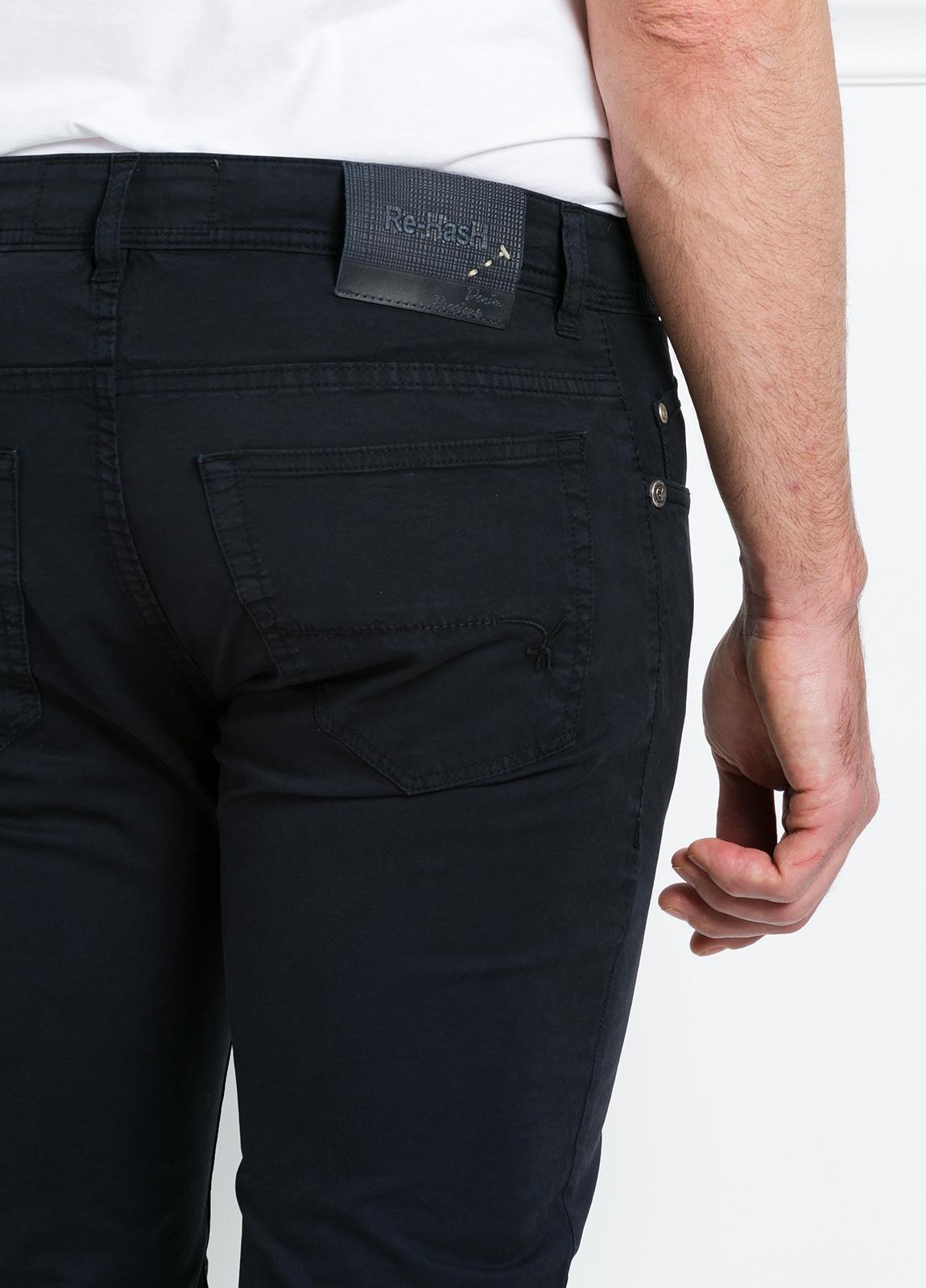Pantalón sport regular fit modelo POLLOCK P 053 color azul marino. 96% Algodón gabardina 4% Lycra. - Ítem2