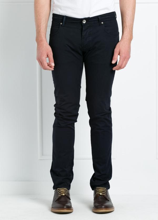Pantalón sport regular fit modelo POLLOCK P 053 color azul marino. 96% Algodón gabardina 4% Lycra.