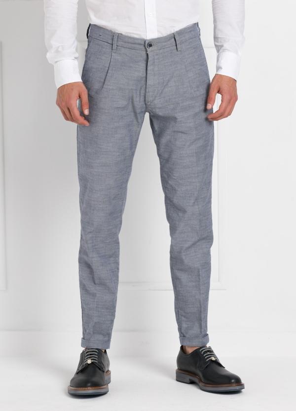 Pantalón sport modelo MUCHA P 008 1 pinza, color Azul. Algodón y elastáno.