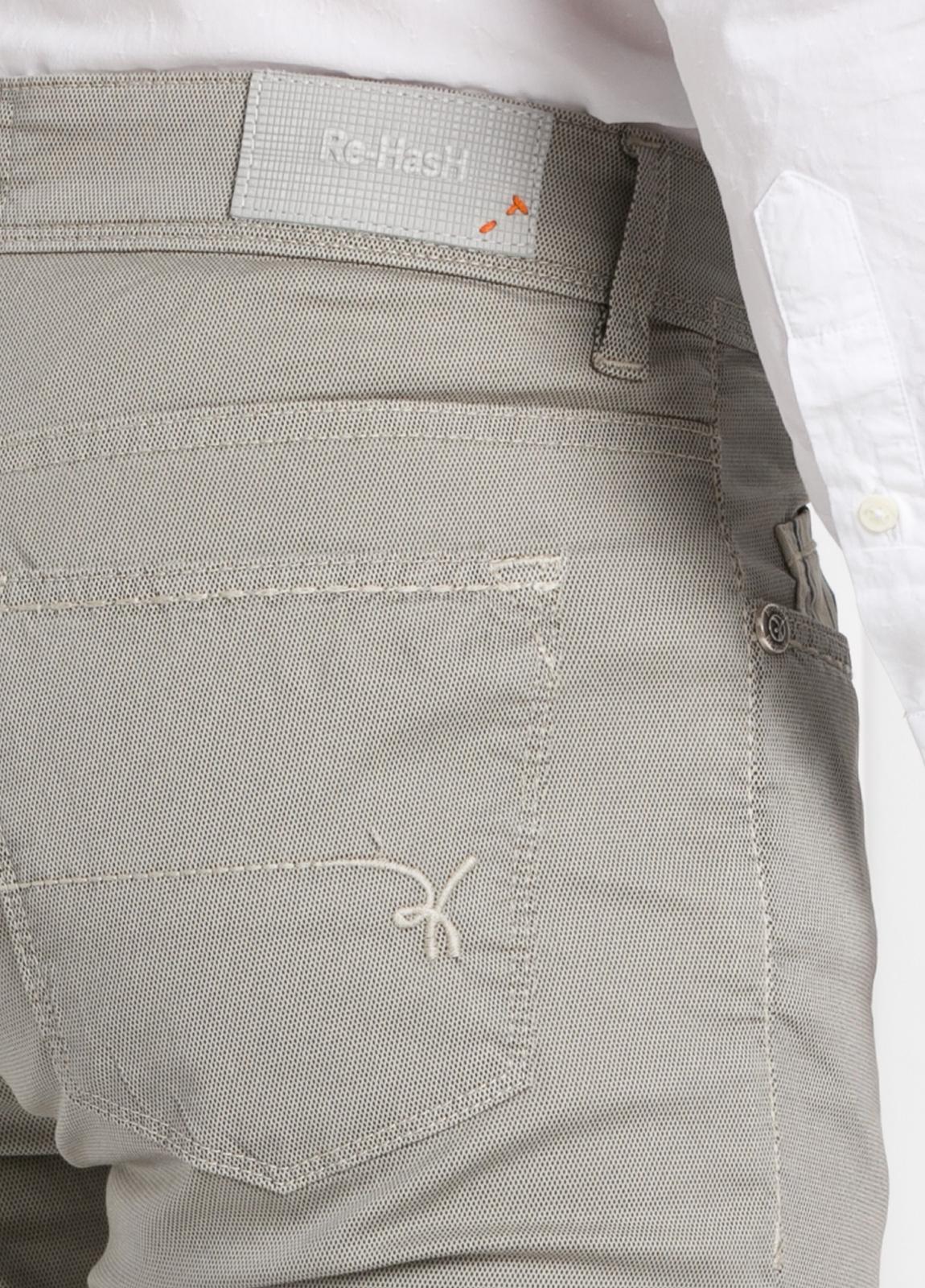 Pantalón sport slim fit modelo RUBENS Z color piedra. Algodón - Ítem1