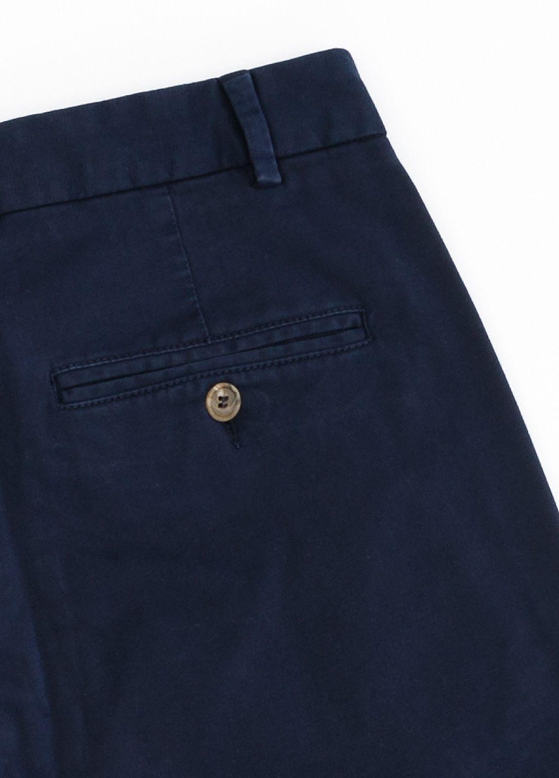 Pantalón Casual Wear, SLIM FIT micro textura color azul marino, 98% Algodón 2% Elastano. - Ítem1