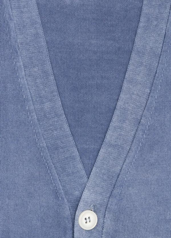 Cardigan con botones color azul, 100% Algodón. - Ítem1