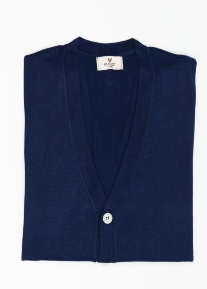 Cardigan con botones color azul marino, 100% Algodón. - Ítem3