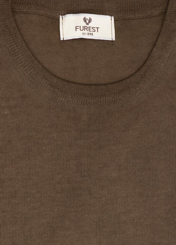 Jersey cuello redondo color marrón, 100% Algodón. - Ítem1