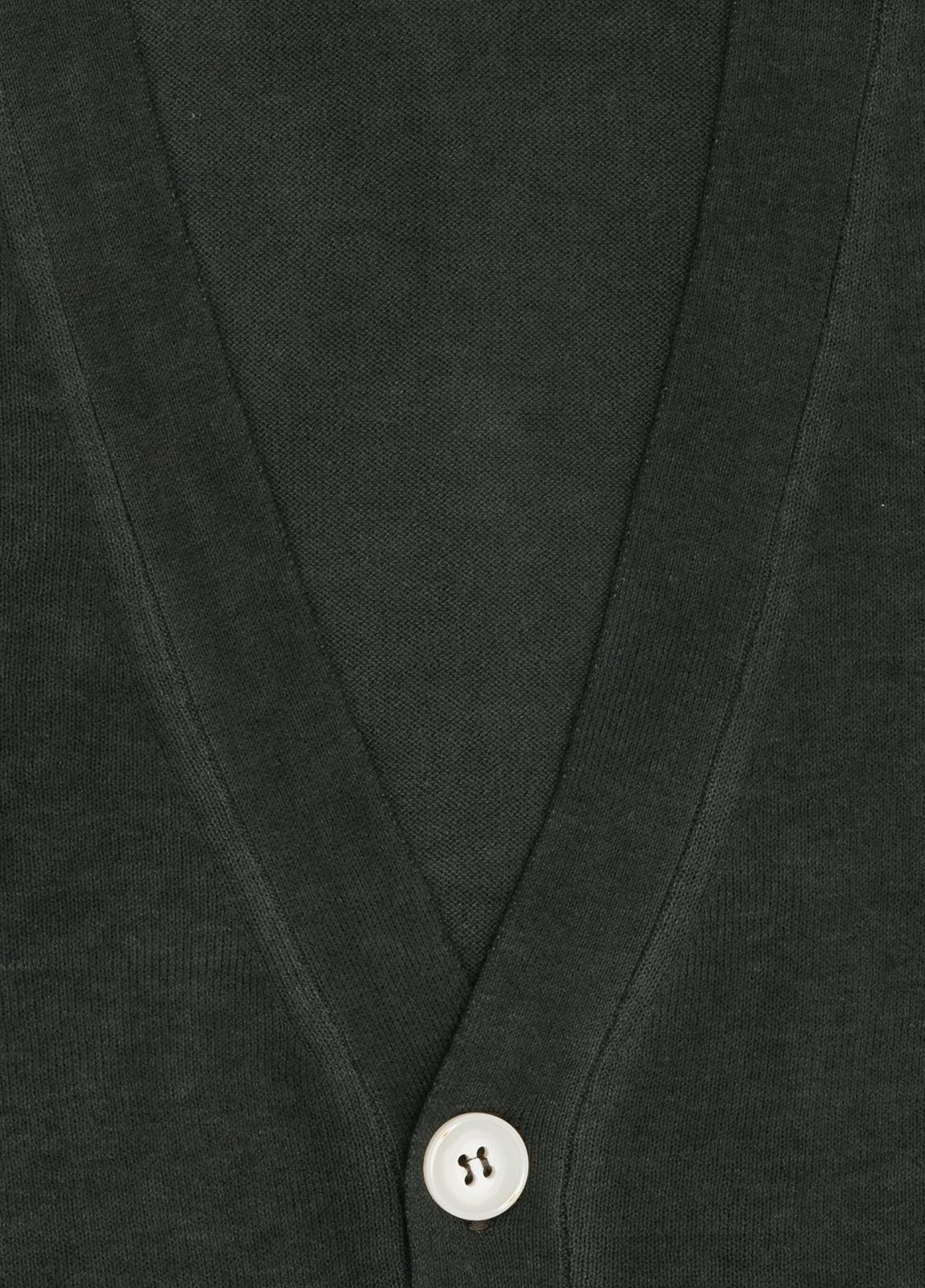 Cardigan con botones color antracita, 100% Algodón. - Ítem1