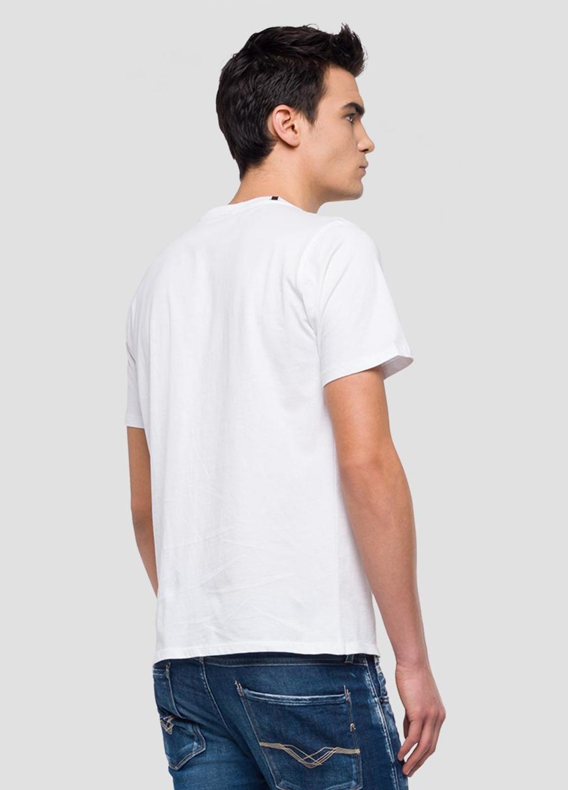 Camiseta manga corta color blanco con estampado Replay. 100% Algodón. - Ítem2