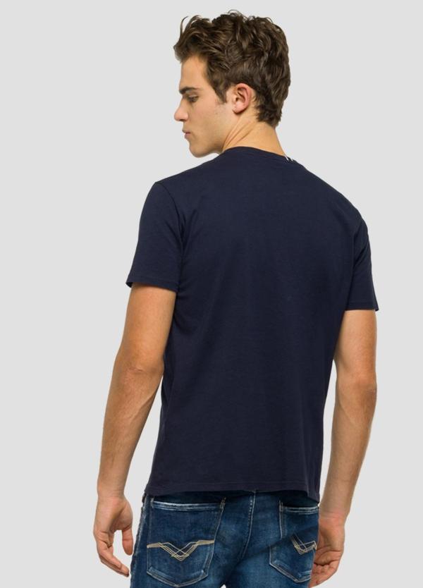 Camiseta manga corta color azul marino con estampado Replay. 100% Algodón. - Ítem2