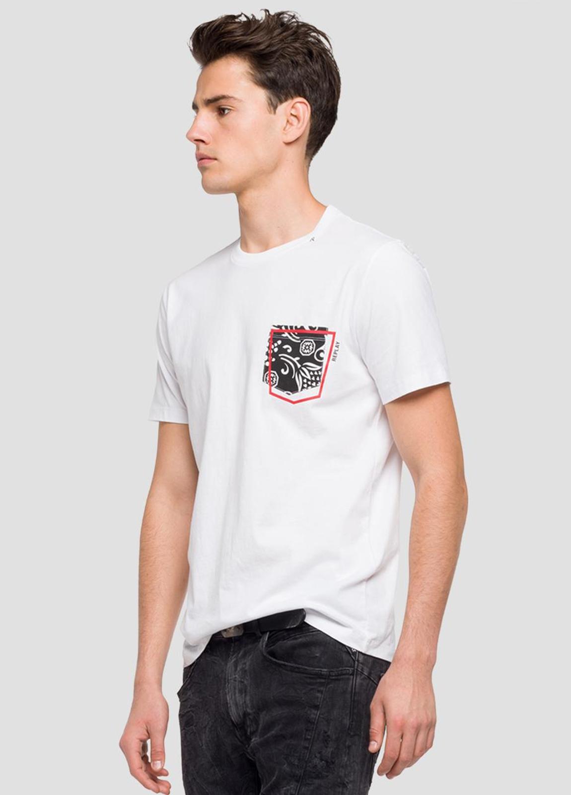 Camiseta manga corta color blanco con estampado en pecho.100% Algodón. - Ítem2