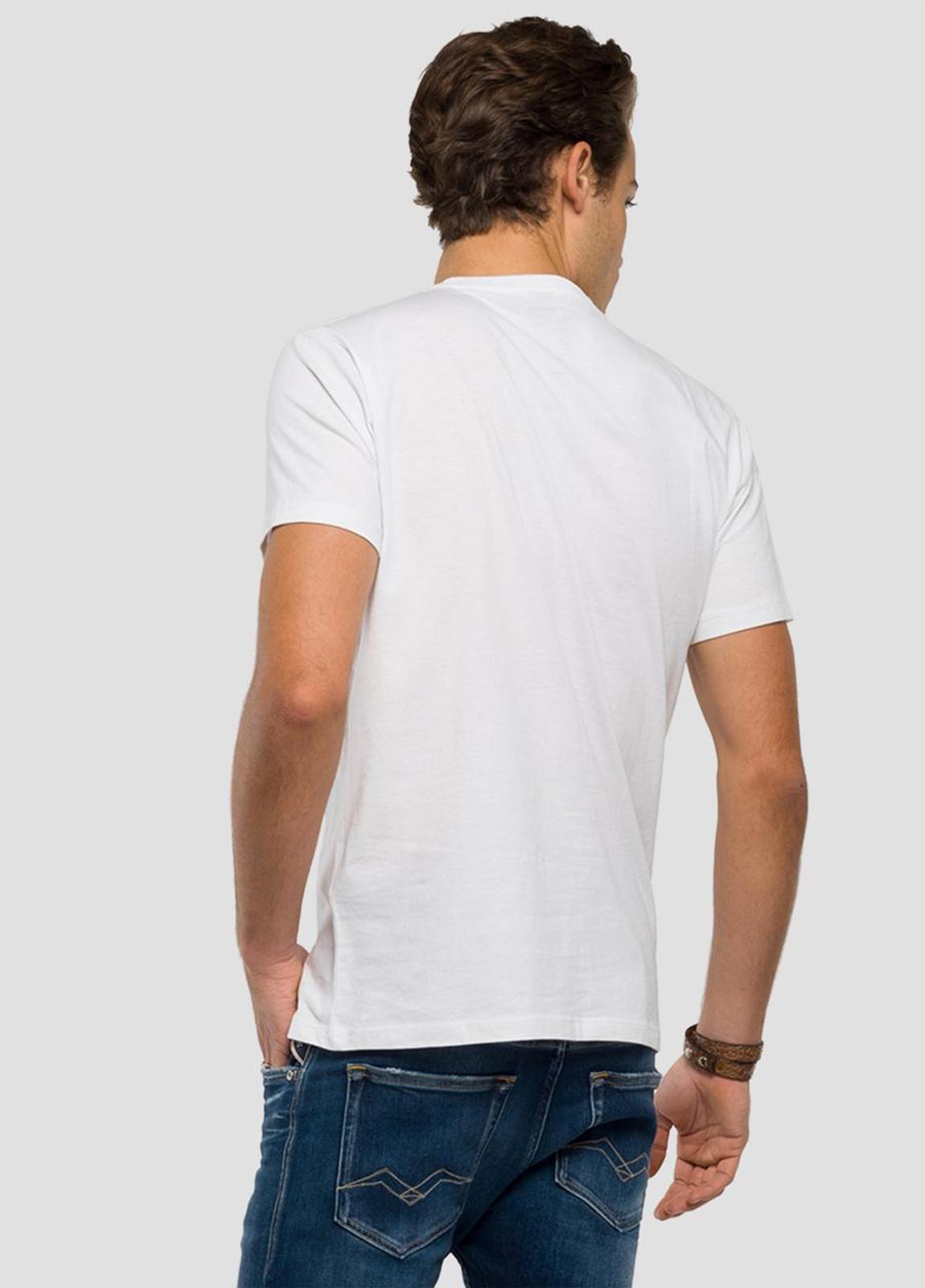 Camiseta manga corta color blanco con estampado de mandril.100% Algodón. - Ítem3