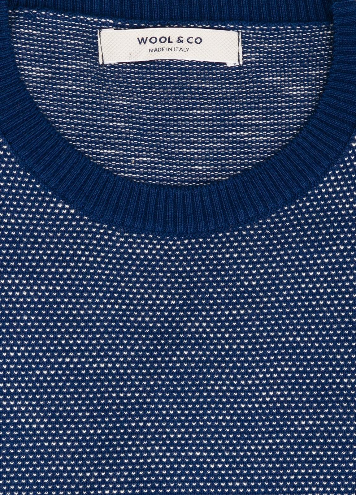 Jersey cuello redondo color azul. 100% algodón. - Ítem2