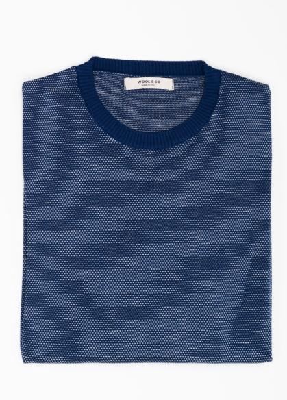 Jersey cuello redondo color azul. 100% algodón. - Ítem1