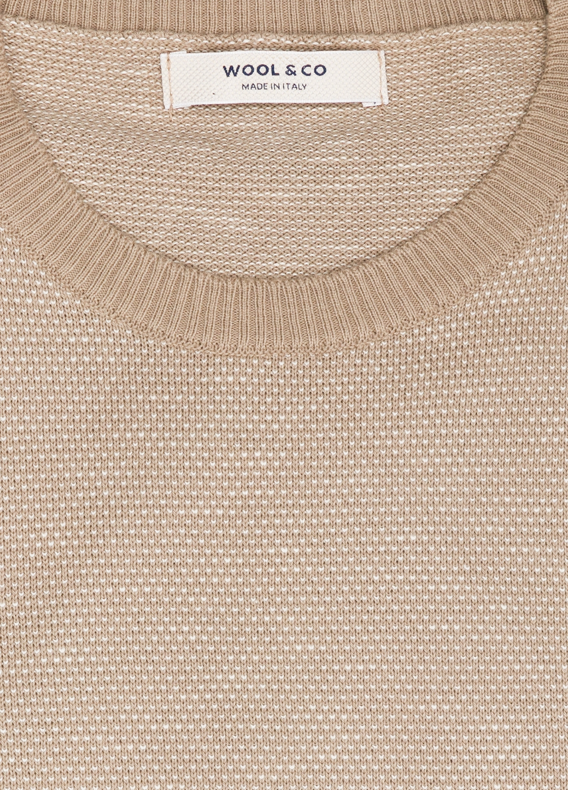 Jersey cuello redondo color beige. 100% Algodón - Ítem2