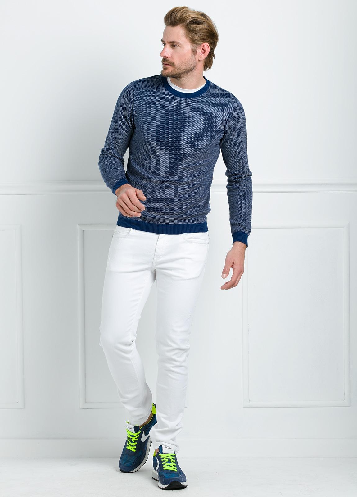 Jersey cuello redondo color azul. 100% algodón. - Ítem4