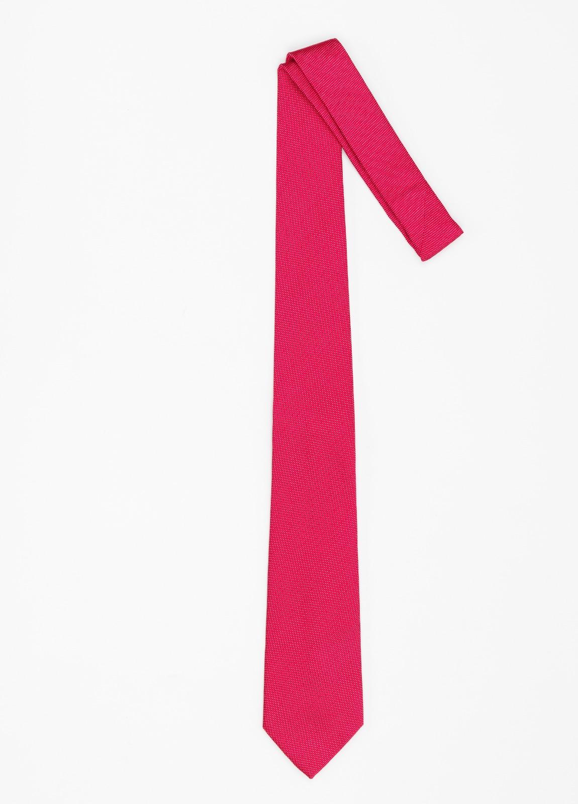 Corbata formal wear micro textura, color rojo pala 7,5 CM 100% Seda. - Ítem1