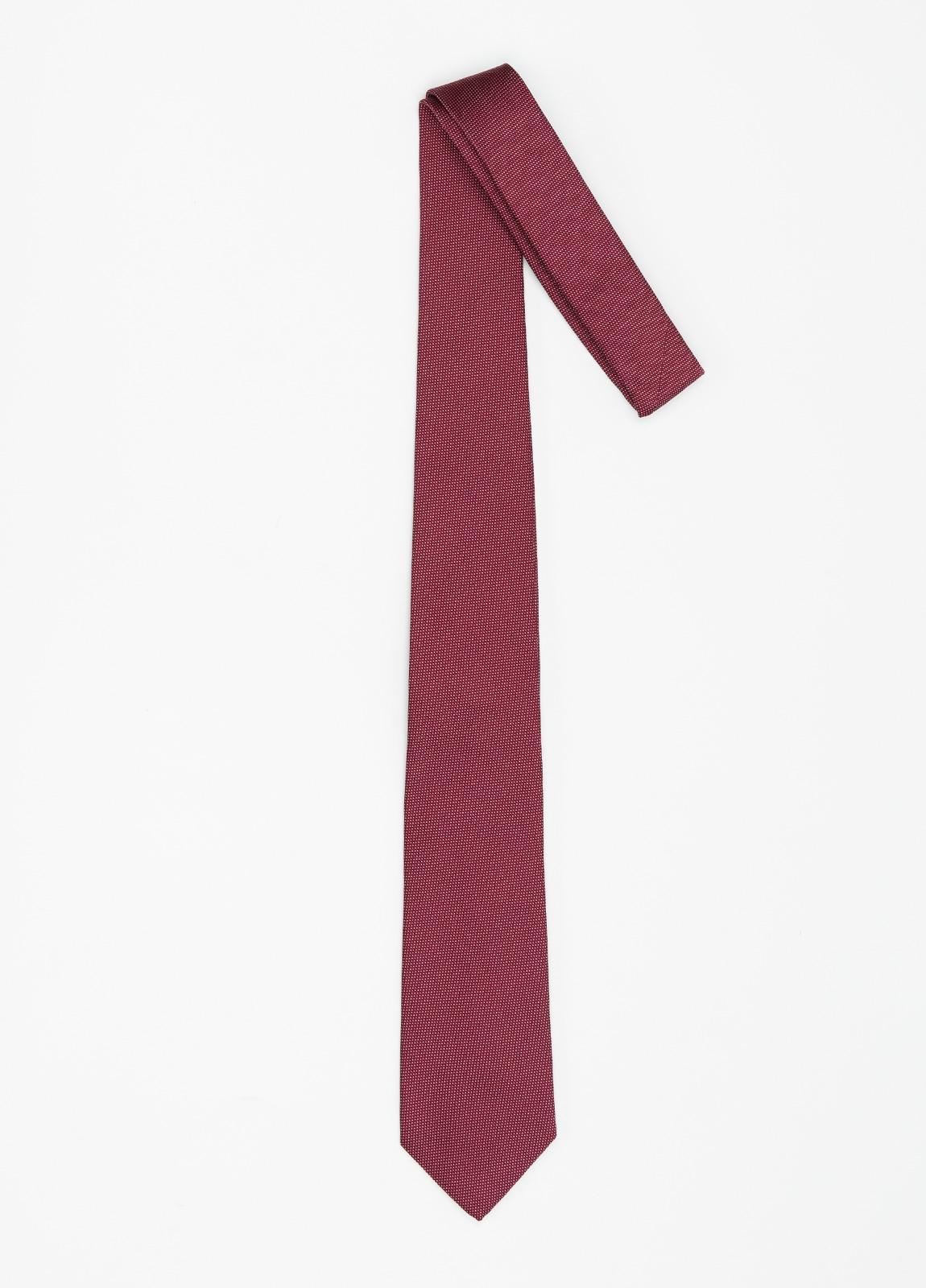Corbata formal wear micro textura, color granate pala 7,5 CM 100% Seda. - Ítem1