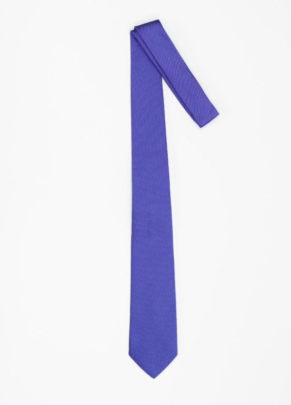 Corbata formal wear micro textura, color azul pala 7,5 CM 100% Seda. - Ítem1