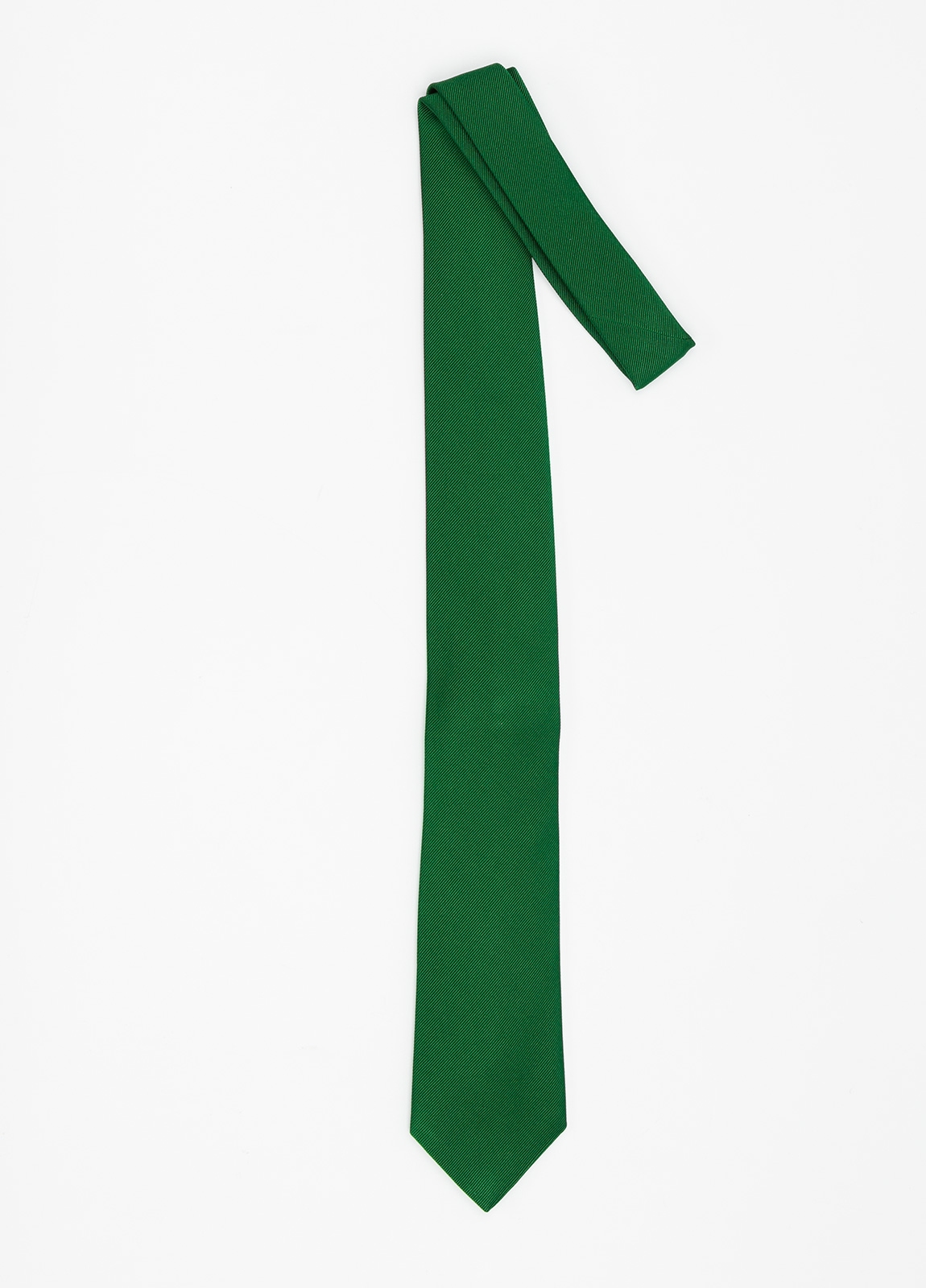 Corbata Formal Wear microtextura color verde. Pala 7,5 cm. 70% Seda 30% Algodón. - Ítem1
