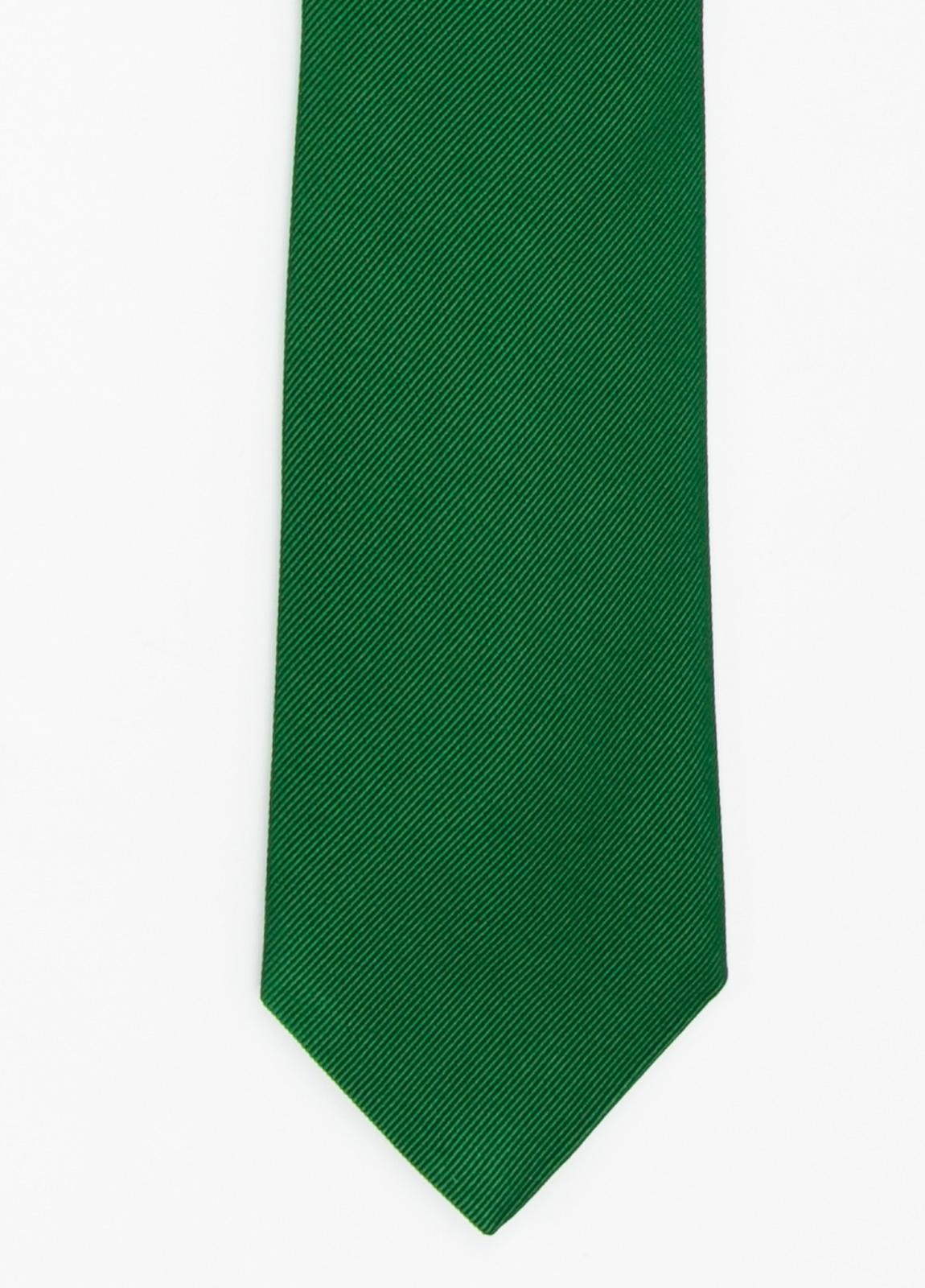 Corbata Formal Wear microtextura color verde. Pala 7,5 cm. 70% Seda 30% Algodón.