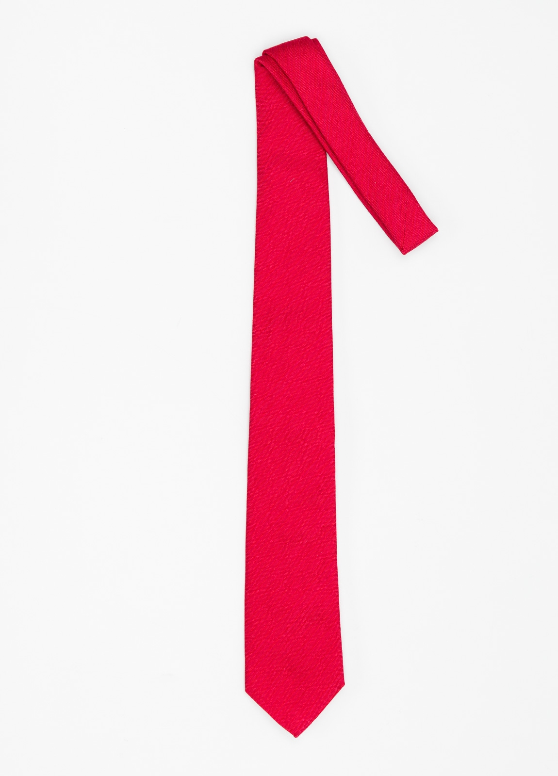 Corbata Formal Wear microtextura color rojo. Pala 7,5 cm. 96% Seda 4% Algodón. - Ítem1