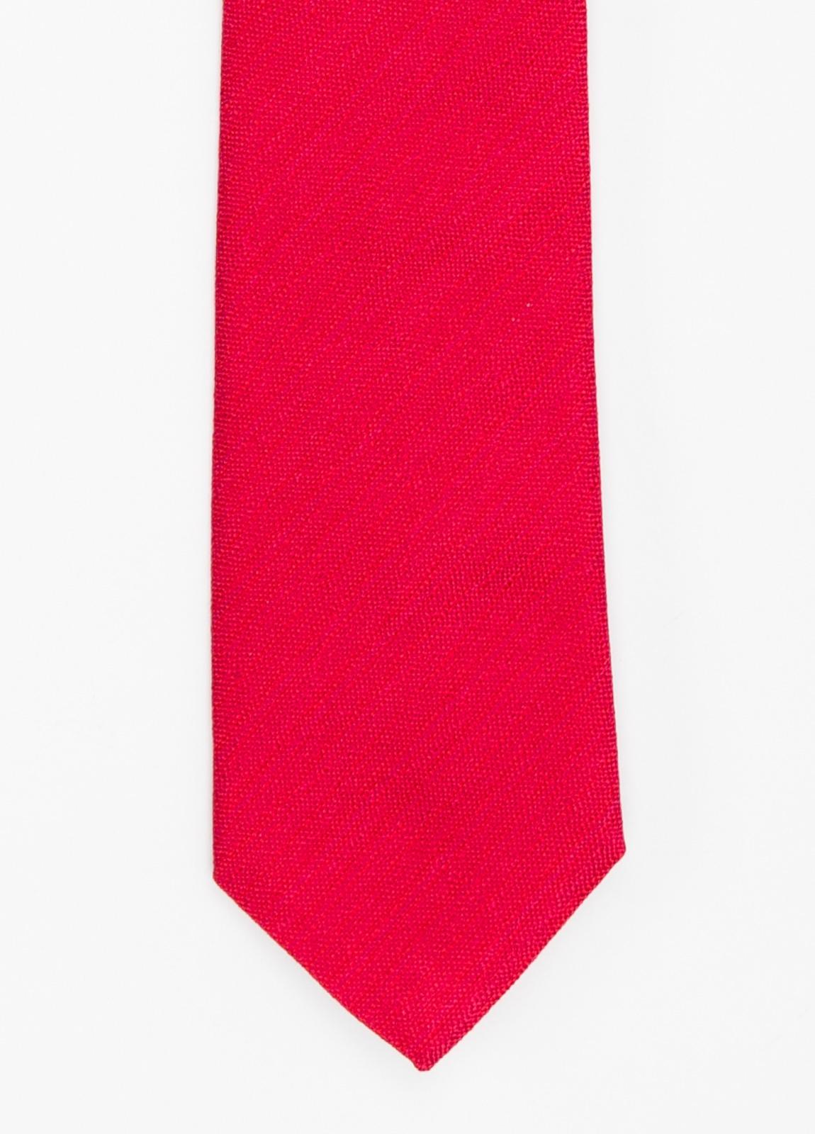 Corbata Formal Wear microtextura color rojo. Pala 7,5 cm. 96% Seda 4% Algodón.