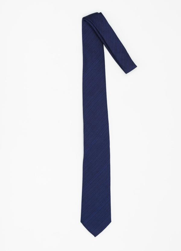 Corbata Formal Wear microtextura color azul tinta. Pala 7,5 cm. 96% Seda 4% Algodón. - Ítem1