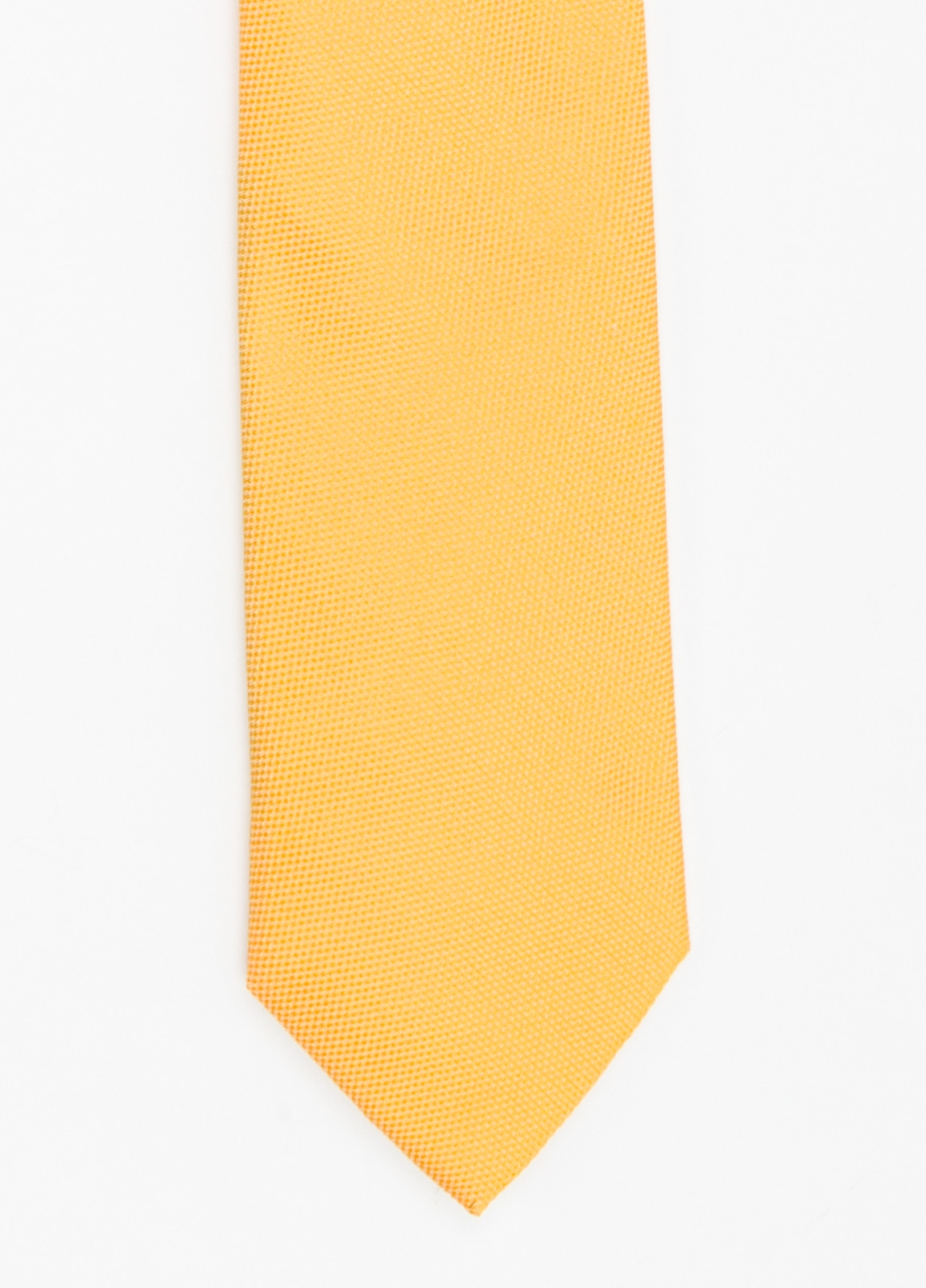 Corbata Formal Wear microtextura color azul amarillo. Pala 7,5 cm. 100% Seda.