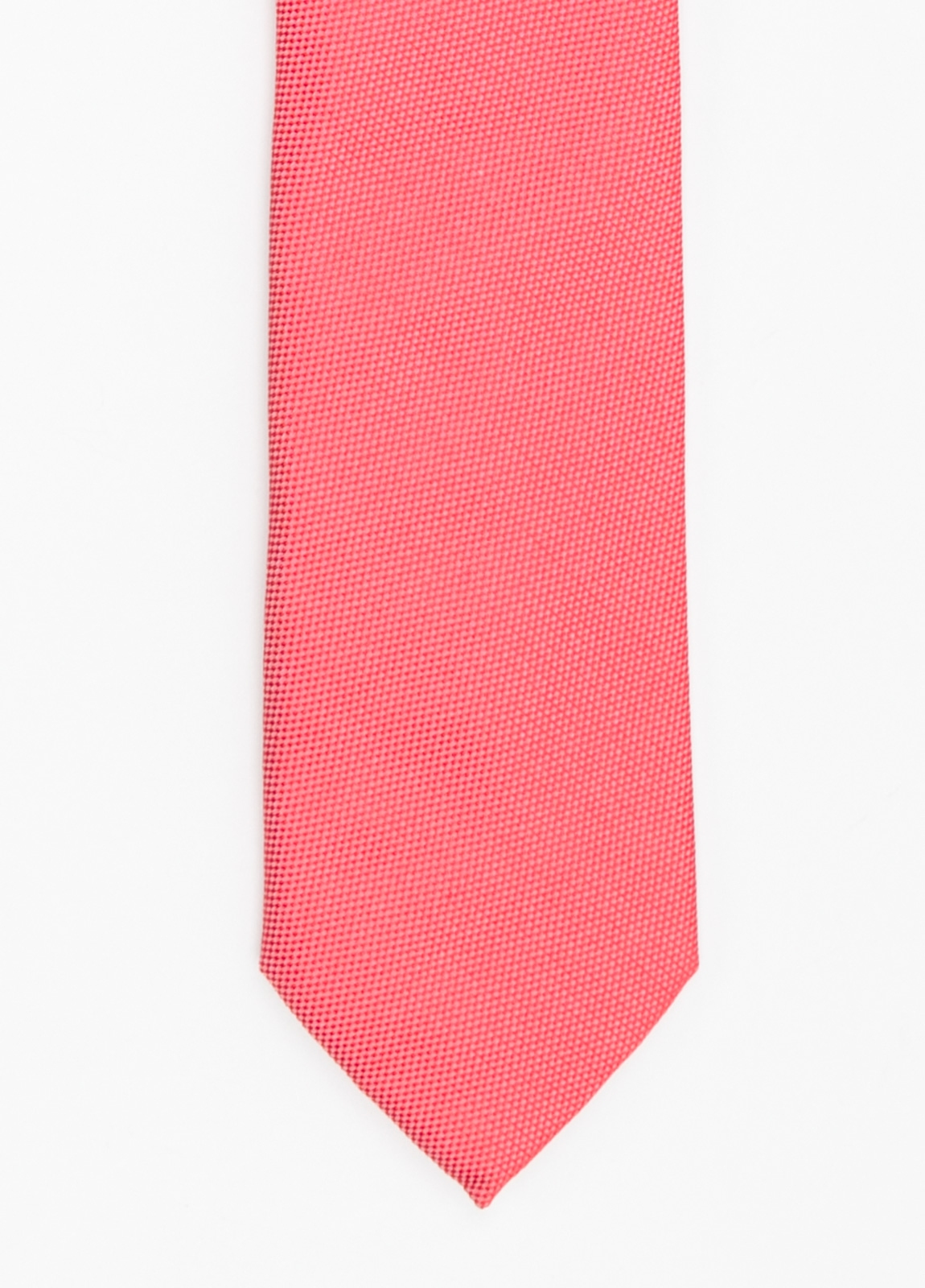 Corbata Formal Wear microtextura color azul coral. Pala 7,5 cm. 100% Seda.
