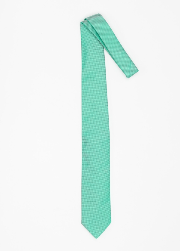 Corbata Formal Wear microtextura color azul verde. Pala 7,5 cm. 100% Seda. - Ítem1