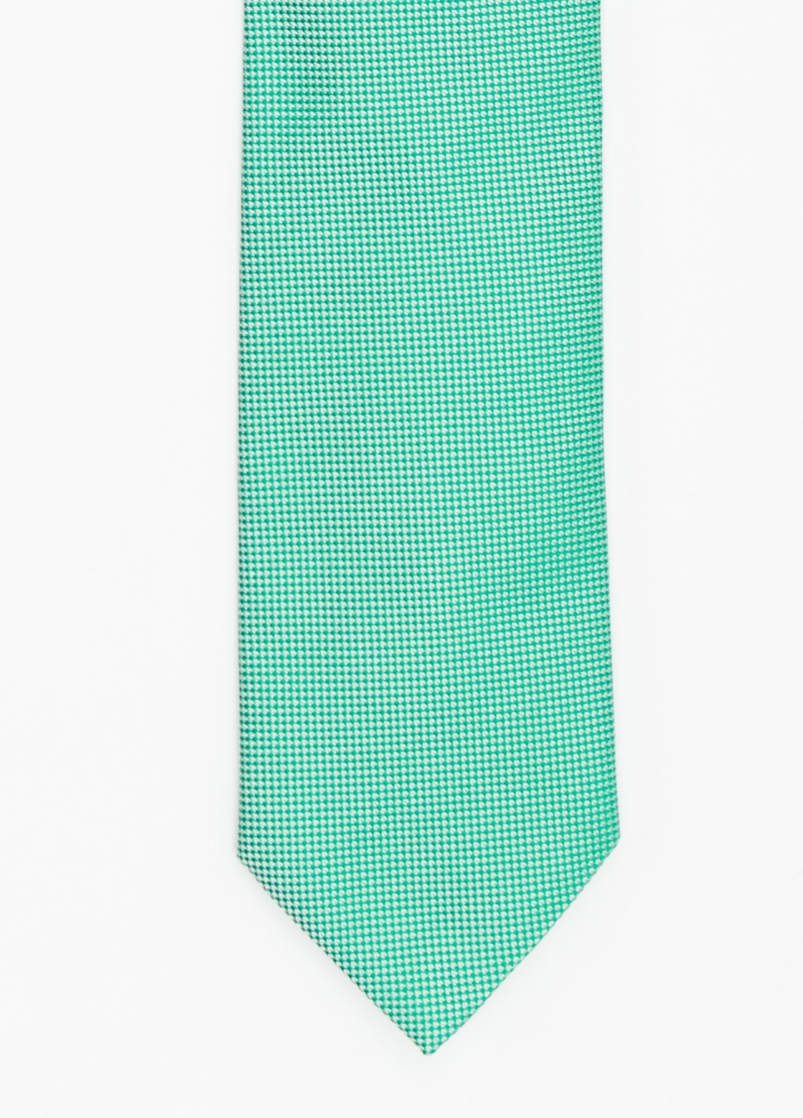 Corbata Formal Wear microtextura color azul verde. Pala 7,5 cm. 100% Seda.