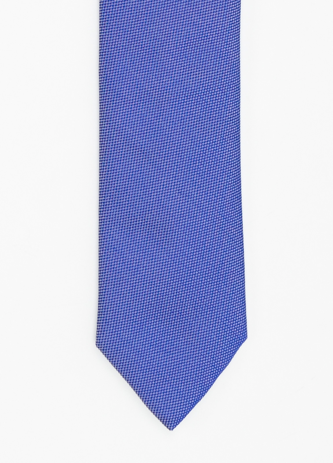 Corbata Formal Wear microtextura color azul. Pala 7,5 cm. 100% Seda.