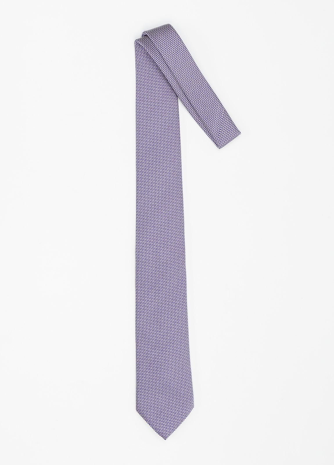 Corbata Formal Wear micro dibujo color azul. Pala 7,5 cm. Seda y Algodón. - Ítem1