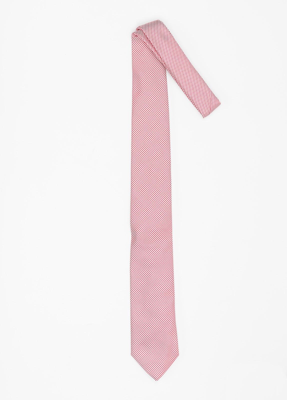 Corbata Formal Wear micro dibujo color rojo. Pala 7,5 cm. 100% Seda. - Ítem1