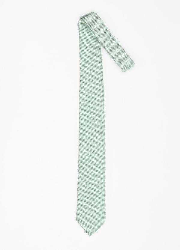 Corbata Formal Wear micro dibujo color verde. Pala 7,5 cm. 100% Seda. - Ítem1