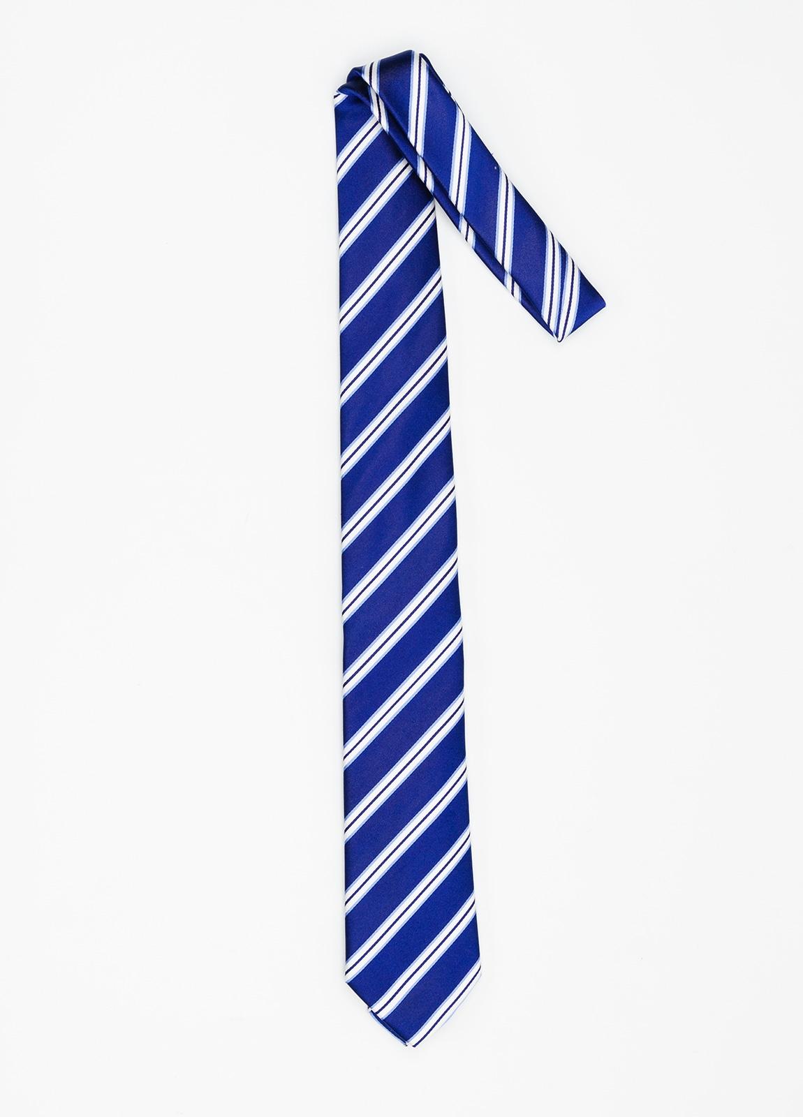 Corbata Formal Wear rayas en diagonal color azulón. Pala 7,5 cm. 100% Seda. - Ítem1