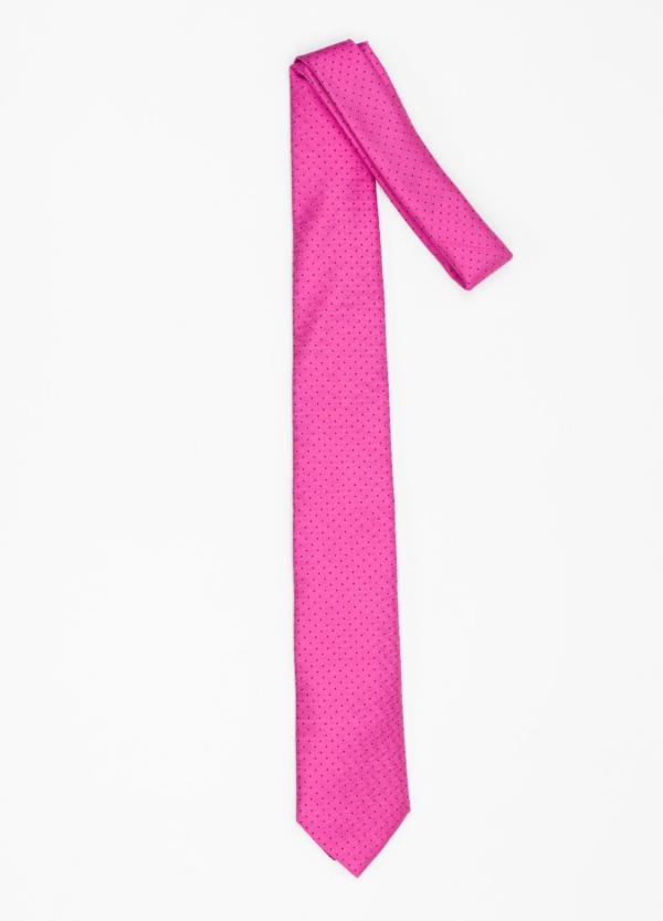 Corbata Formal Wear micro dibujo color fuxia. Pala 7,5 cm. 100% Seda. - Ítem1