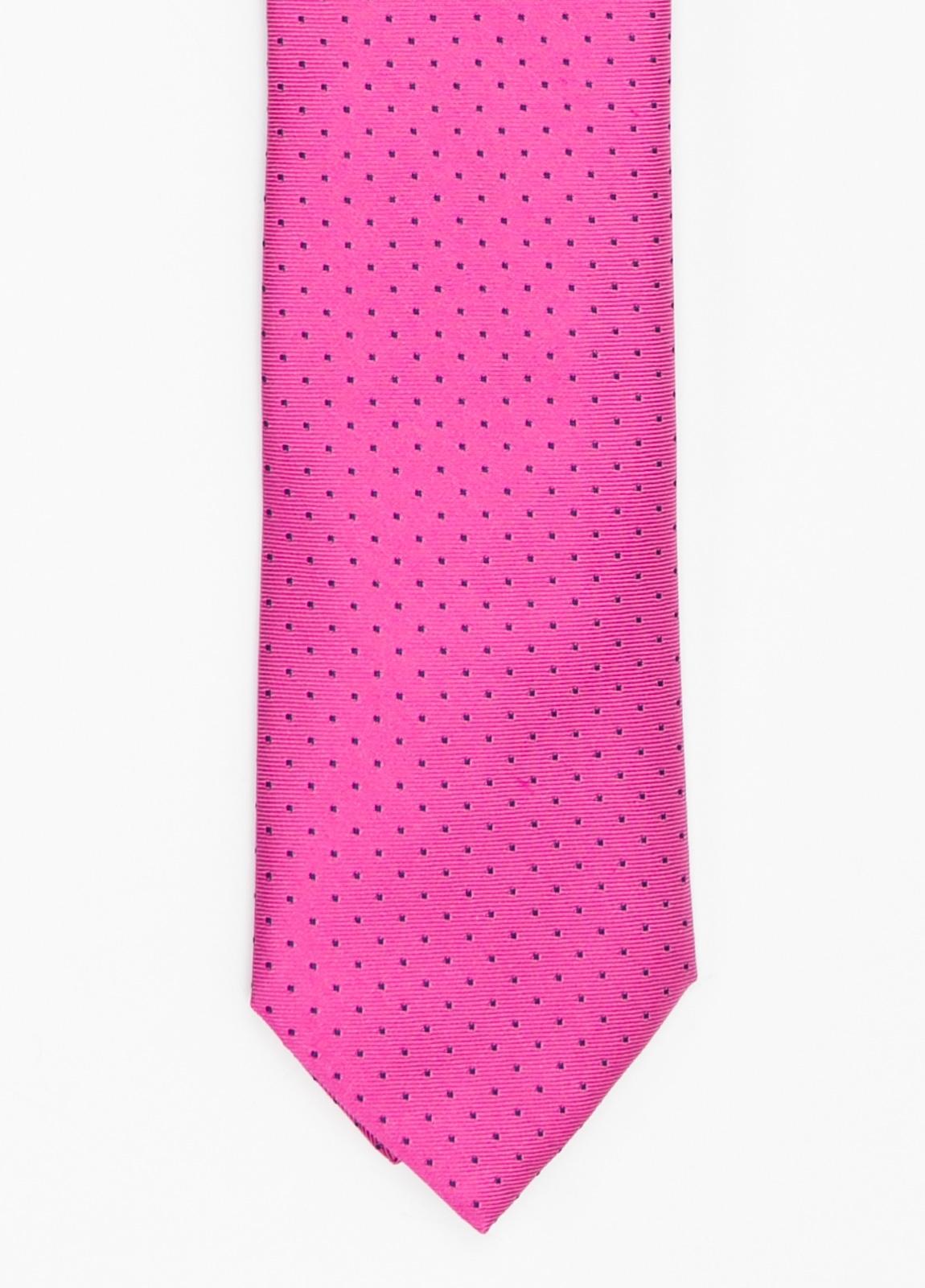 Corbata Formal Wear micro dibujo color fuxia. Pala 7,5 cm. 100% Seda.