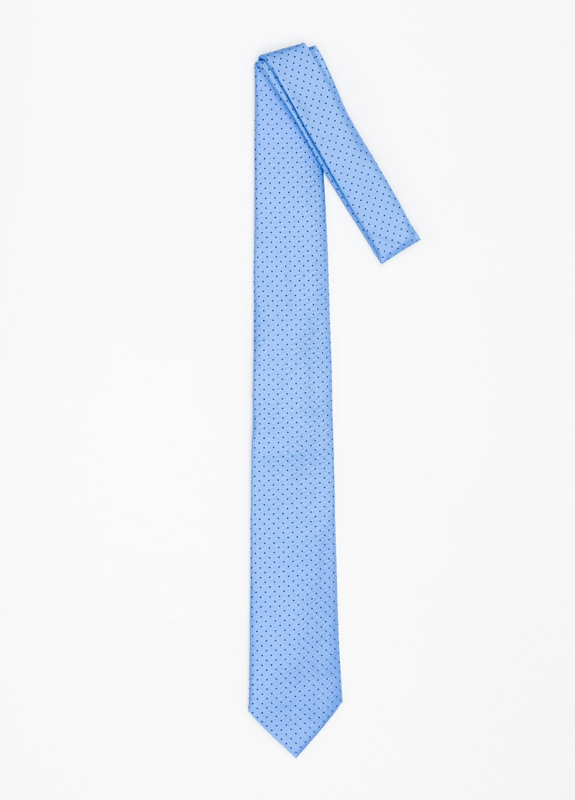 Corbata Formal Wear micro dibujo color azul celeste. Pala 7,5 cm. 100% Seda. - Ítem1