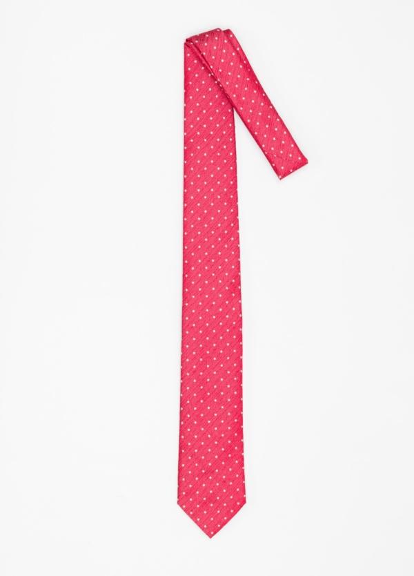 Corbata Formal Wear micro textura topito color rojo. Pala 7,5 cm. 100% Seda. - Ítem1