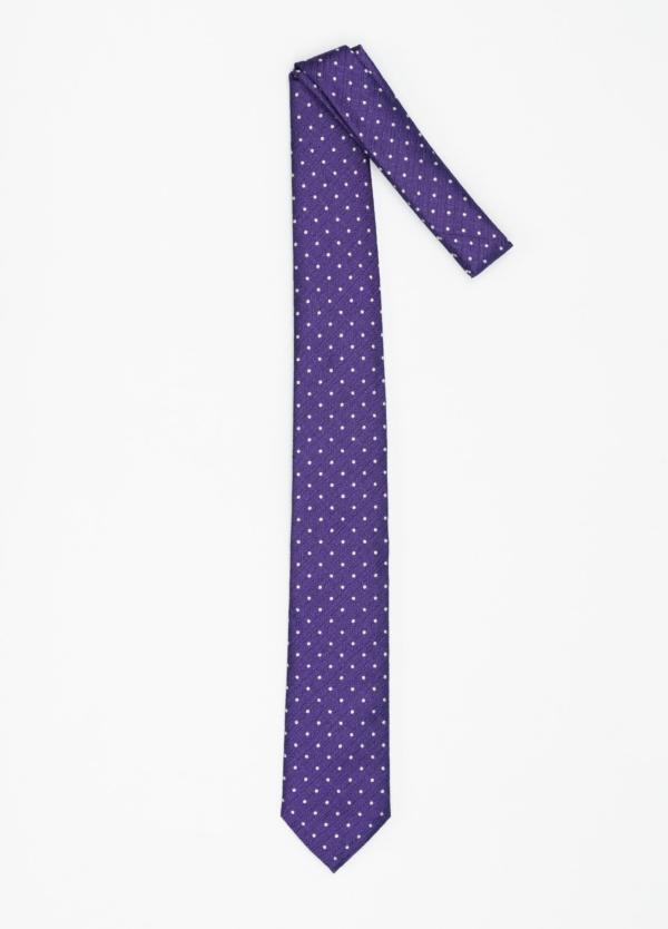 Corbata Formal Wear micro textura topito color azul tinta. Pala 7,5 cm. 100% Seda. - Ítem1